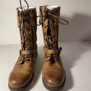 Aldo brown biker boots